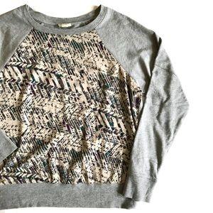Converse Gray Screen Printed Sweatshirt